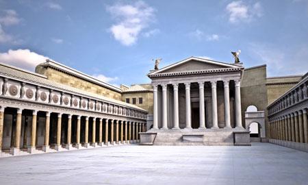 Esplorazione del Foro di Augusto a Roma