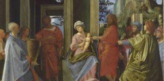 Adorazione dei Magi - particolare -, 1495 - 1500 ca., olio su tavola, 56,8 x 55 cm, National Gallery, Londra