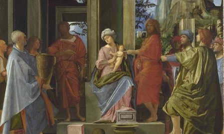 Adorazione dei Magi, particolare, 1495 - 1500 ca., olio su tavola, 56,8 x 55 cm, National Gallery, Londra