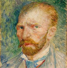 Vincent van Gogh, Autoritratto, Olio su cartone, cm 32,8 x 24, 1887, © Kröller-Müller Museum; Otterlo
