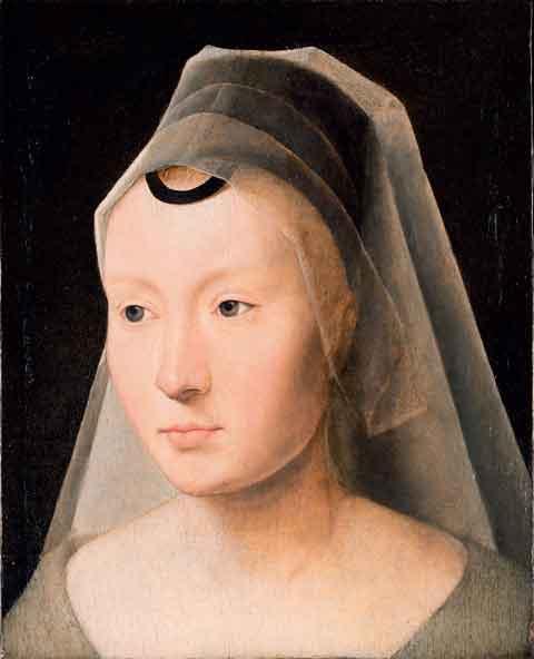 Hans Memling, Ritratto di donna (frammento), 1480-1485 circa, Olio su tavola (quercia), 23,2 x 18,4 cm, Collezione Ambasciatore J. William Middendorf II
