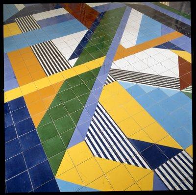 Gio Ponti, Pavimenti per gli uffici della Salzburger Nachrichten | Particolare del pavimento