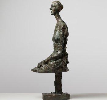 Alberto Giacometti: Annette assise, 1956, Bronzo 52x16x24 cm. Collezione privata, Ginevra