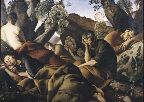 Felice Carena, Gli Apostoli, 1926, olio su tela - Firenze, Galleria d'arte moderna di Palazzo Pitti