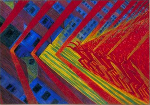 Russolo, La rivolta, 1911