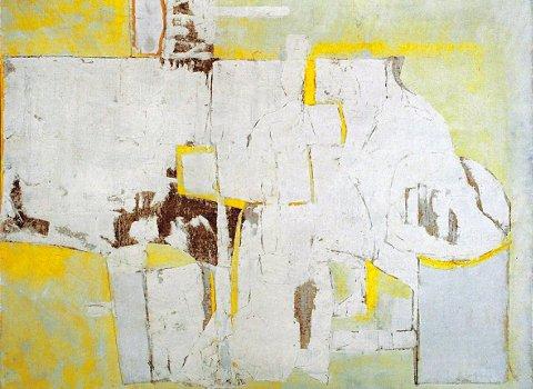 Mario Lattes, Natura morta, 1959, olio su tela, 100x65 cm