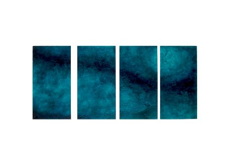 Livia Oliveti, Blue Moon, 135x60 cm, olio, acrilico, resina e gesso su polistirolo, 2014
