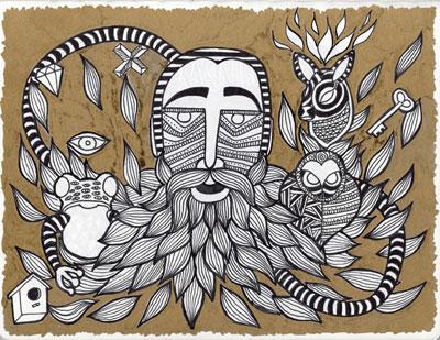 Stefano Cerioli, IspirationPoint, 2014, acrilici su carta, 19x25cm