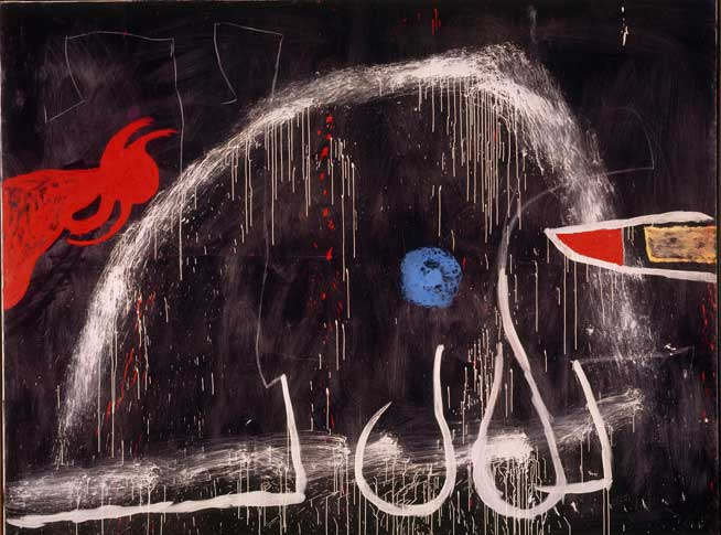 Miró, Senza titolo, 1974 circa, Olio, acrilico e gessetto su tela, 270,5 x 355 cm, Fundació Pilar i Joan Miró a Mallorca © Successione Miró by SIAE 2014