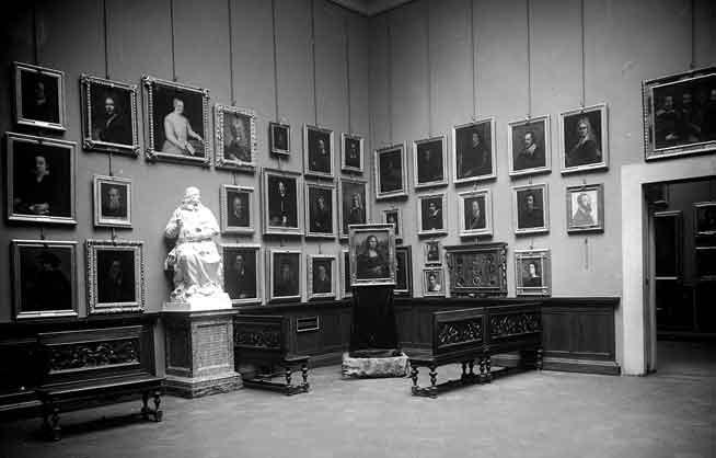 Galleria degli Uffizi, Sala autoritratti con Gioconda, 1913, cm 21 x 27