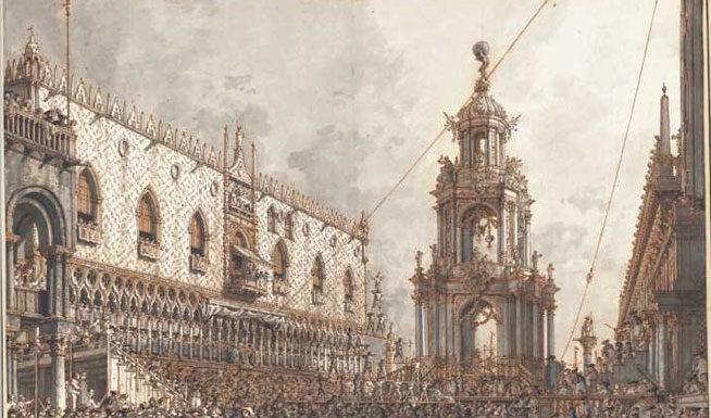 Canaletto, La festa del Giovedì Grasso -1763-1766