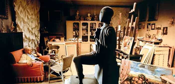De Chirico nel suo studio