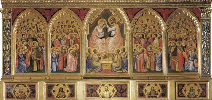 Giotto, Polittico Baroncelli, 1328 ca., Tempera su tavola, Firenze, Basilica di Santa Croce , Proprietà Fondo Edifici di Culto del Ministero dell'Interno, Archivio fotografico dell'Opera di Santa Croce