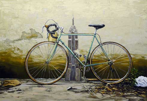 Andrea Di Marco, Impero, 2009, olio su tela, cm 145x185