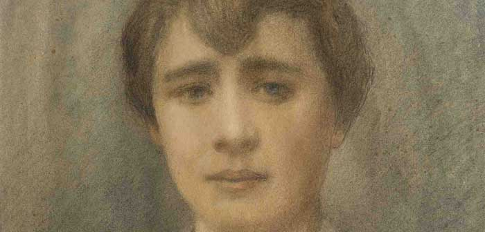 Domenico Baccarini, Ritratto di giovane donna (perticolare)