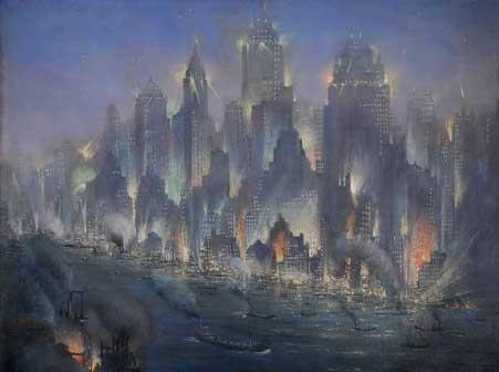 Gennaro Favai, New York, 1930 ca, olio su tavola – collezione privata