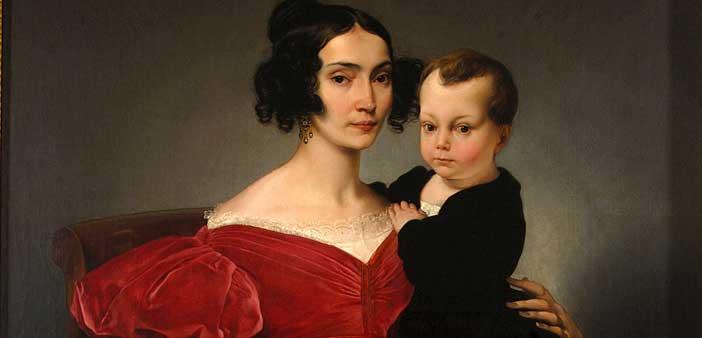 Francesco Hayez, Ritratto della contessa Teresa Zumali Marsili con il figlio Giuseppe (particolare), 1833, Museo Civico, Lodi