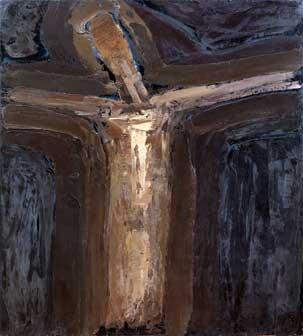 William Congdon - Crocefisso 41, 1966 olio su faesite - cm. 150x135 Milano, The William G. Congdon Foundation