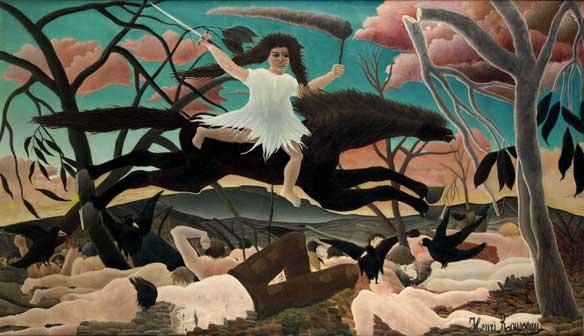 Henri Rousseau, La Guerra detta anche La cavalcata della Discordia 1894 ca., olio su tela, cm 114 x 195, Parigi, Musée d'Orsay, © RMN-Grand Palais (Musée d'Orsay)/Tony Querrec