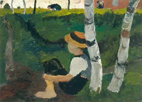 Paula Modersohn-Becker, Ragazzo sulla strada sotto delle betulle, 1900, Museen Böttcherstrasse, Paula Modersohn-Becker Museum, Bremen