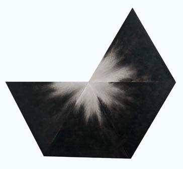 Alessandro Cannistrà - Tempo del silenzio (oggetto di pensiero), 2015 fumo su legno. Misure variabili (200x180 circa)