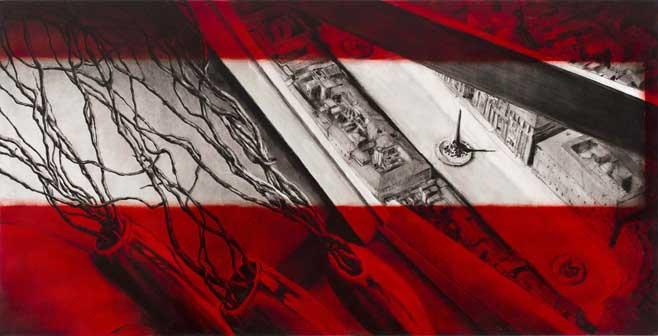 Francesca Tulli, Fortissimo 2014 olio su tela cm 180x90