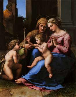 Raffaello Sanzio, Madonna del Divino Amore, Napoli, Museo di Capodimonte, Collezione Farnese , Olio su tavola - cm. 140 x 109