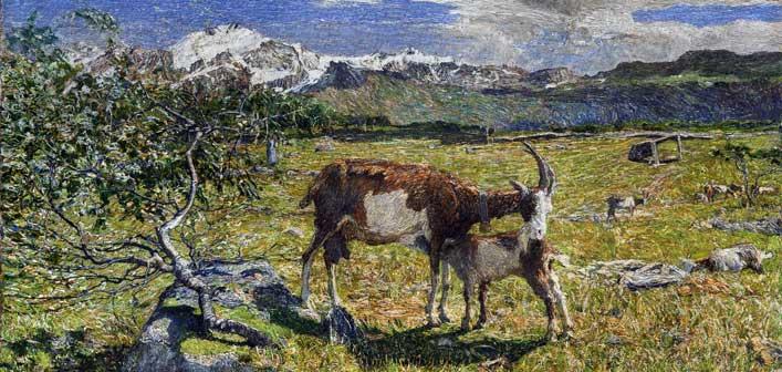 Giovanni Segantini, Alpe di maggio, olio su tela, 54 x 86 cm