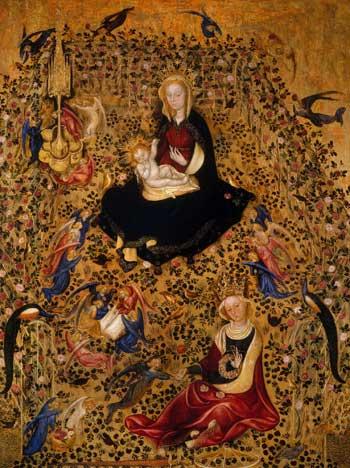 Michelino da Besozzo o Stefano di Giovanni, Madonna del roseto