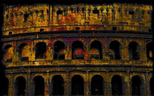 Gianpaolo Conti, Amphitheatrum Flavium cornice, 50x80