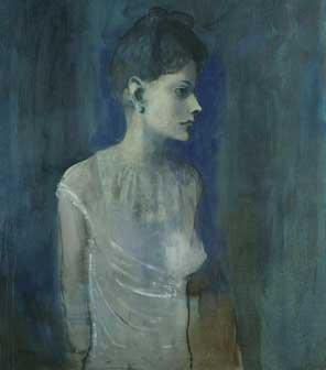 Pablo Picasso: Ragazza in camicia, 1904-05 Olio su tela, cm 72,7 x 60 Londra, Tate. Lascito C. Frank Stoop, 1933 © Succession Picasso, by SIAE 2015