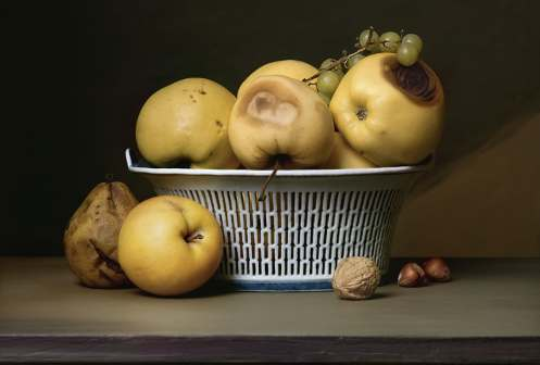 Sharon Core, Apples in a Porcelain Basket, 2007 © Sharon Core, Courtesy of the Artist and Yancey Richardson