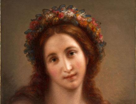 Giovanni Carnovali, detto Il Piccio, Flora, olio su tela 54 x 44 cm