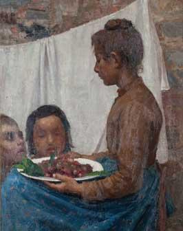 Giuseppe Pellizza da Volpedo, Le ciliegie, 1888-1889, olio su tela, cm 80 x 63,7