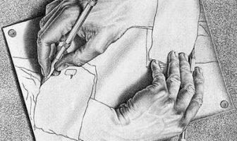 Escher, Mani che disegnano