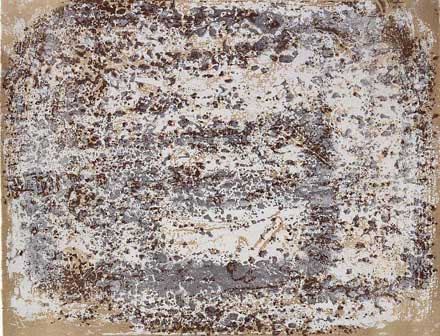 Jean Dubuffet: Chaussée terreuse, 4 da Aires et lieux. All images of Jean Dubuffet works © SIAE, Roma 2015