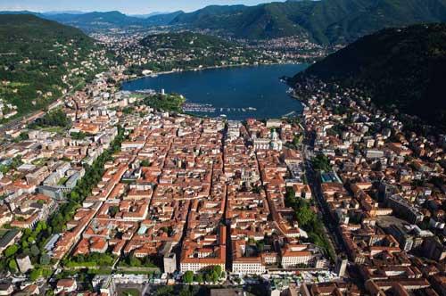 La città di Como, foto di Yann Arthus-Bertrand