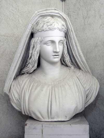 Antonio Canova: La Religione, 1786-1788, gesso, 112 x 108 x 50