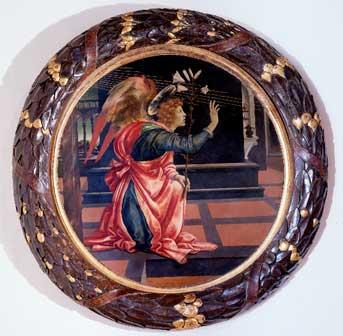 Filippino Lippi, Angelo annunziante, 1483-84. San Gimignano, Civici Musei, Pinacoteca