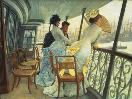 James Tissot, The Gallery of HSM Calcutta (Portsmouth), 1876 ca, Oil paint on canvas, UK, Londra, Tate © Tate, London 2015