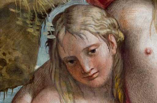 Polifemo e Galatea (particolare), dopo il restauro