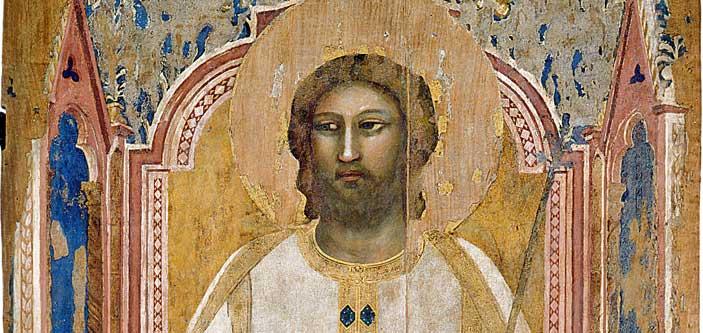 Giotto, Dio Padre in trono, particolare
