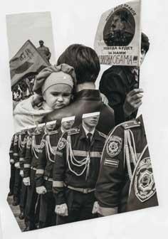 Paolo Ciregia, Collage realizzato con foto di manifestazioni a Donetsk maggio 2014