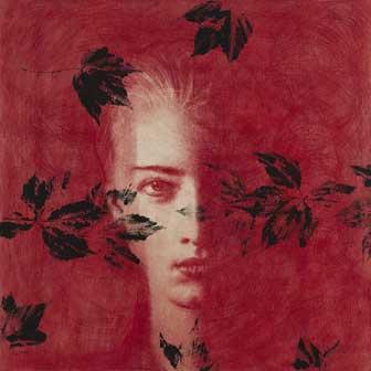Omar Galliani, Dalle stanze di Ophelia, 2005, pastello su tavola e tempera, cm 100x100, © Luca Trascinelli