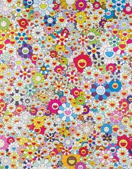 Takashi Murakami, Poporoke Forest, 2011 acrilico e foglia di platino su tela, Collezione privata, Sassuolo (MO) © Takashi Murakami/Kaikai Kiki Co., Ltd. All Rights Reserved. Photo: Rolando Paolo Guerzoni