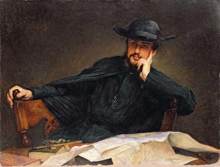 James Tissot , Ritratto di padre Bichet , 1885, Olio su tela, 88x118 cm, Musée des Beaux-Arts de Nantes © Ville de Nantes- Musée des Beaux-Arts - Photo credit: A.GUILLARD