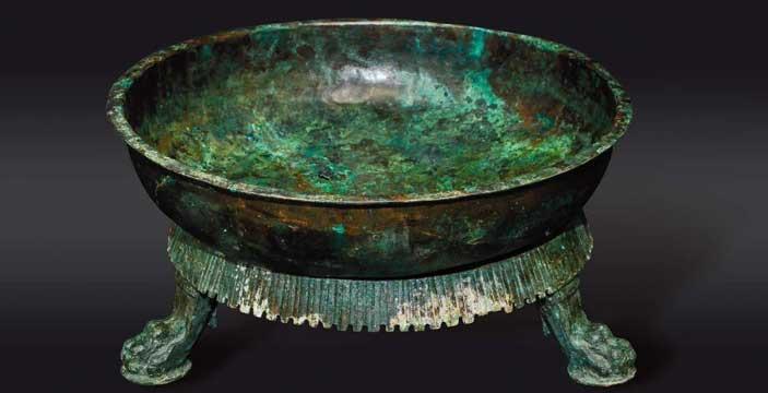Braciere in bronzo I secolo d.C. ; officina romana