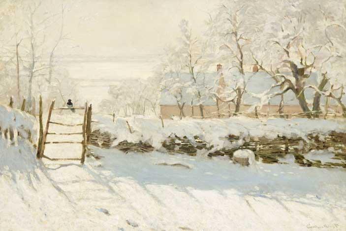 Monet, La Pie (La Gazza, 1868-1879), olio su tela; 89x130 cm; inv. RF 1984 164 - Paris, Musée d'Orsay © RMN-Grand Palais (musée d'Orsay) / Hervé Lewandowski