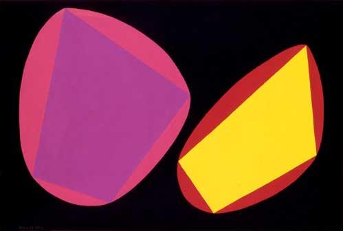 Angelo Bozzola, Rappresentazione concreta, 1954, tempera su carta, 32x47,2 cm. Fondazione Angelo Bozzola, Galliate