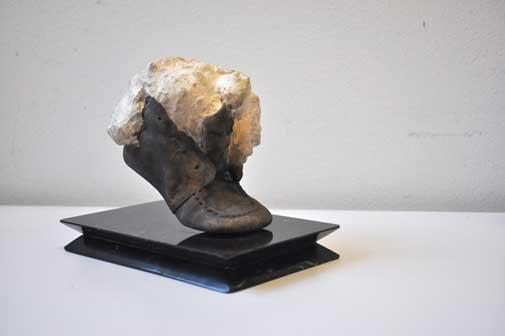 Daniel Spoerri - Senza titolo, 2008 - fusione di bronzo placcata argento, h.11.5 x 9 x 10.5 cm